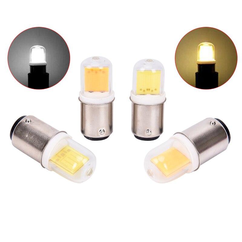 BA15D LED Light Bulb 5W 110V 220V AC COB LED Lamp For Chandelier Sewing Machine