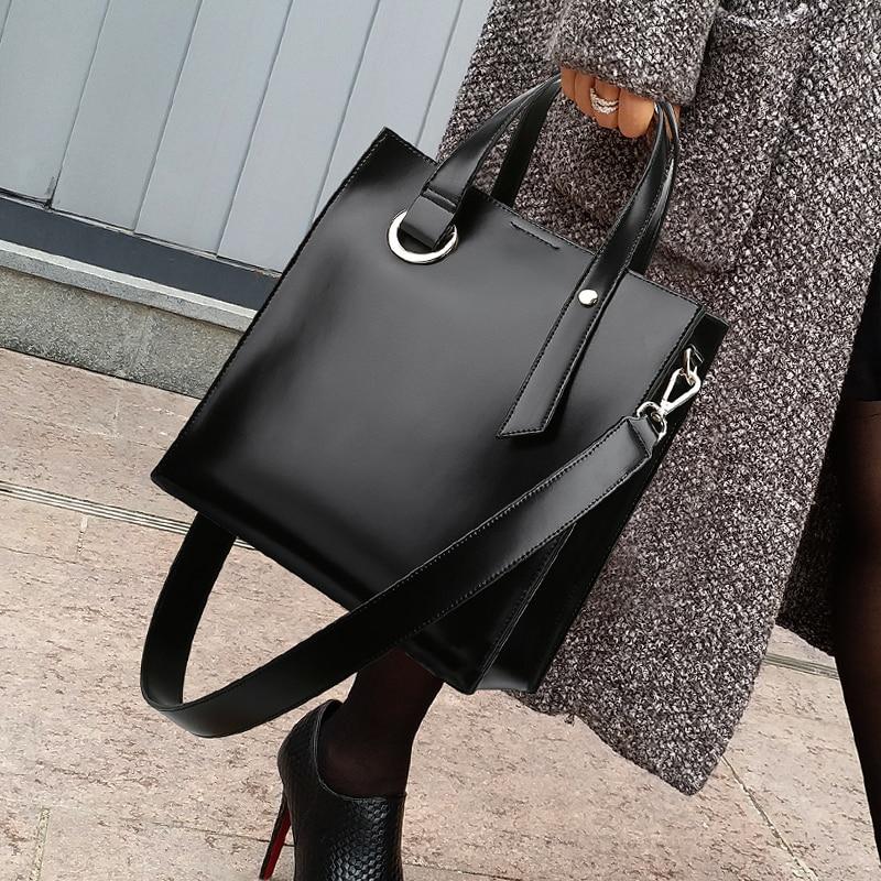 Luxury Women Leather Women Handbags Female Shoulder Bag Designer Luxury Lady Tote Large Capacity Shoulder Messenger Bag