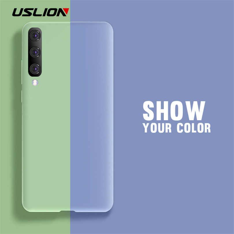 USLION Yumuşak Silikon samsung kılıfı Galaxy A30 A50 A70 A10 M10 M20 S8 S9 S10 Artı Not 8 9 Şeker Renk telefon Kapak Coque Kılıfları