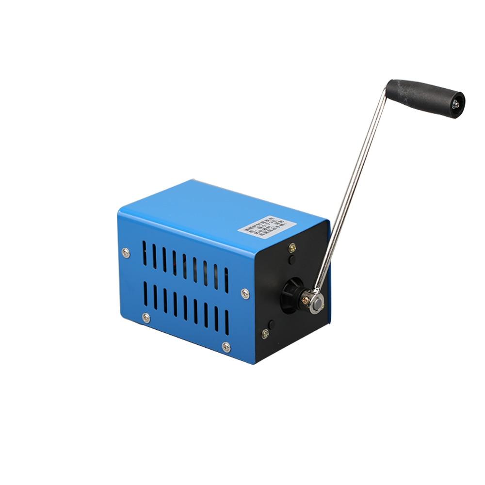 20 w de alta potencia gerador manivela mao para lampada usb carregador emergencia portatil usb sobrevivencia