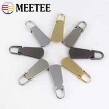 5Pcs Detachable 5# Metal Zipper Pullers For Sliders Head Zippers Repair Kits Pull Tab DIY Sewing Accessories ZT101