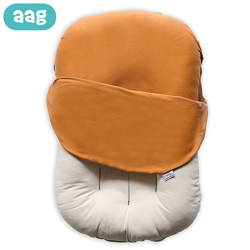 AAG Portable Travel Baby Bed Nest Newborns Cradle Cribs Solid Color Newborn Cot Sleeping Support Babynest Bed Bumper Room Decor