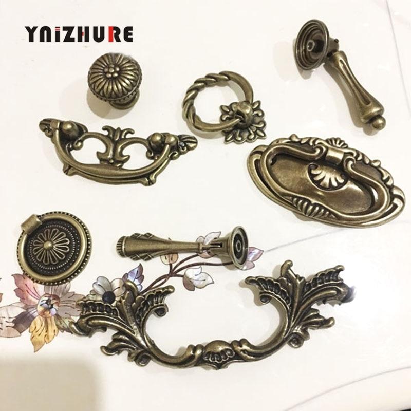Antique Brass Door Handle Furniture Cabinet Cupboard Drawer Wardrobe Pull Knobs