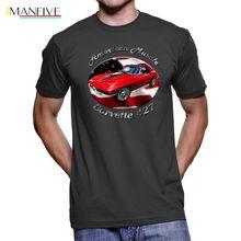 Summer 2019 Short Sleeve Plus Size  Chevy Corvette 427 American Muscle Men`s Dark T-Shirt