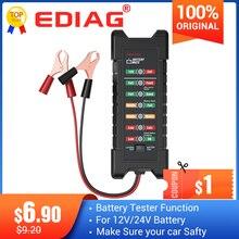 Ediag BM410ミニ12v 24v車のバッテリーテスターデジタルテストツールオルタネータBM310 6 ledライトディスプレイBM320自動診断ツール