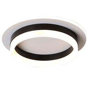Image 5 - Led Kroonluchter Licht Gang Hal Opbouw Acryl Plafond Backlight 20W Moderne Lamp Lustres Lampadario AC85 260V