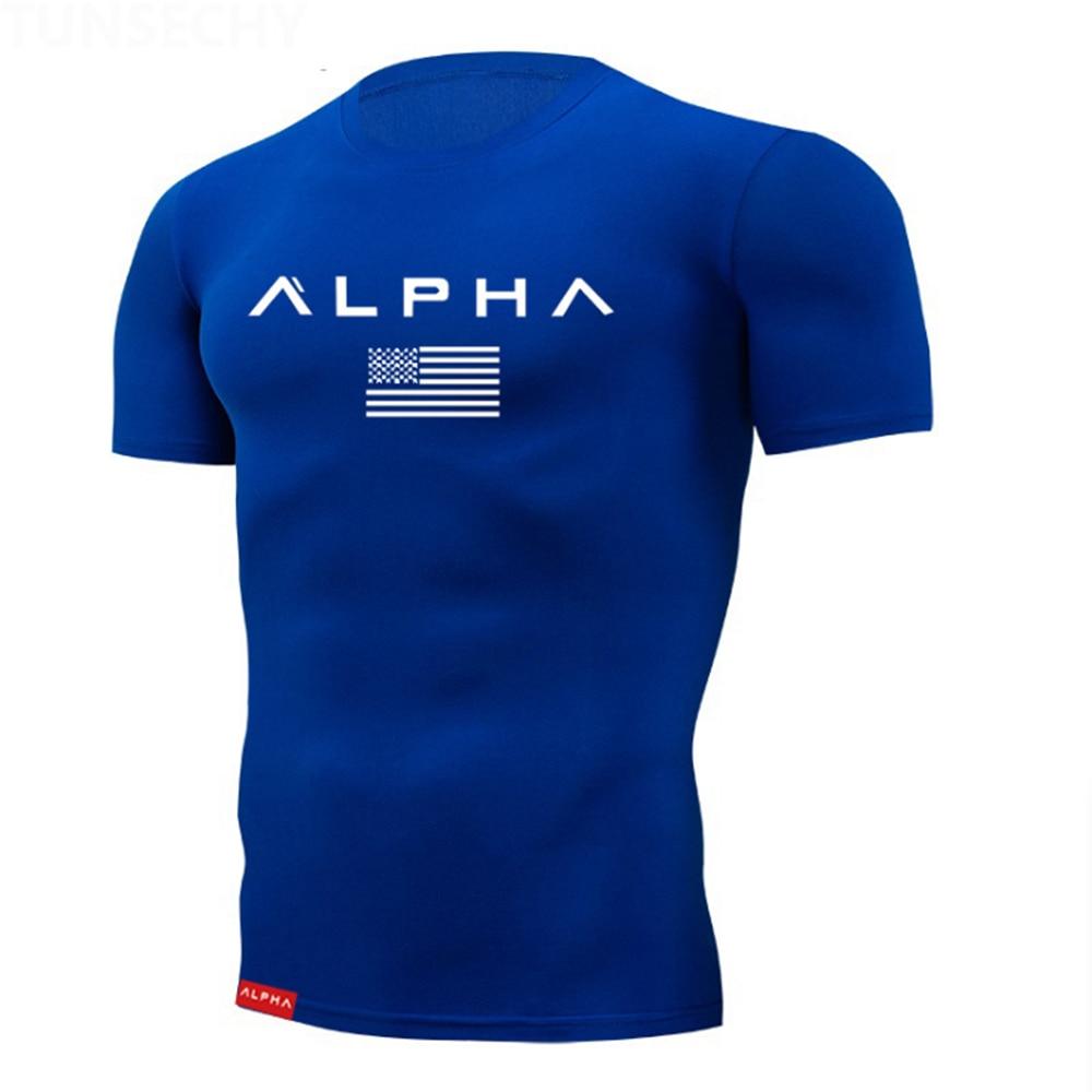 2020 Tight t shirt Mens Short Sleeve Running Shirts Quick Dry Compression tshirt Fitness Tights Sport Shirt Men Gym Sports Wear