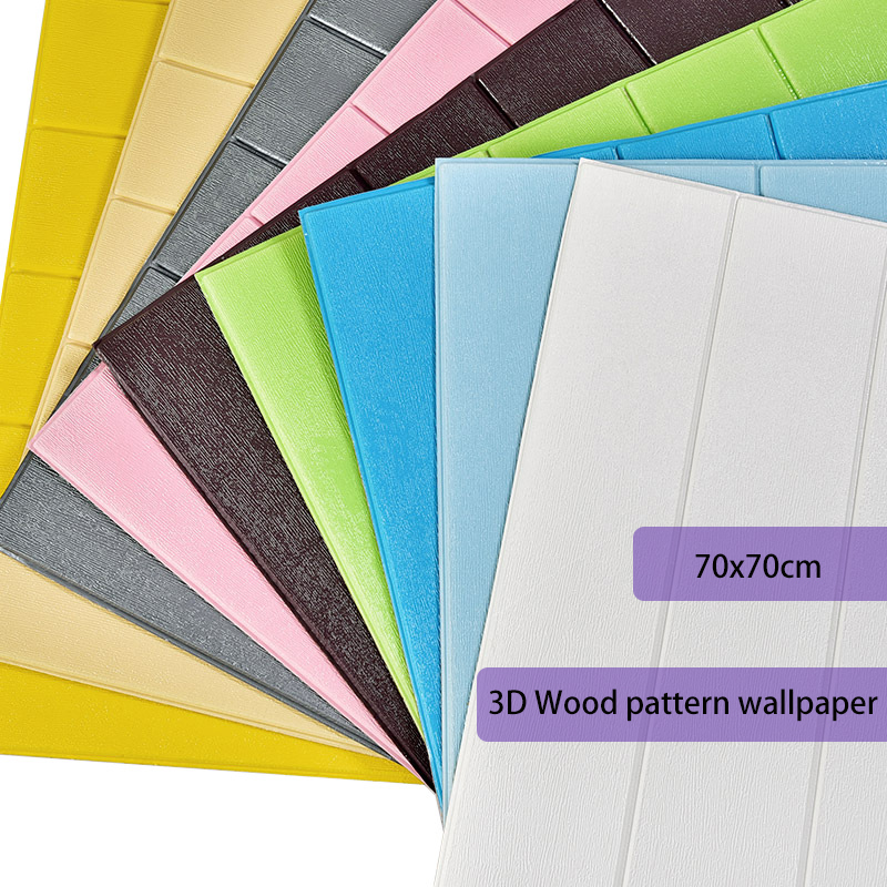 3D Wood Pattern Wallpaper Kids Bedroom Living Room Wall Decor Waterproof Self Adhesive Wall Covering Wall Stickers