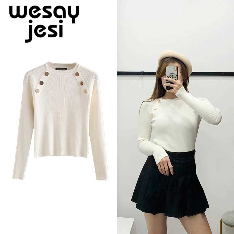 Winter Sweaters Women Pull Femme England Style Sheath Simple Solid O-neck Long Sleeve Basic Sweaters Women Pullovers Tops