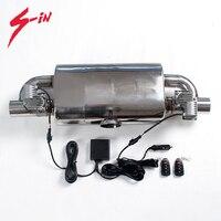 51mm válvula silenciador da válvula elétrica silenciador 1 entrada para 2 saída automóvel reembalagem tubo de escape Válvula de verificação do veículo     -