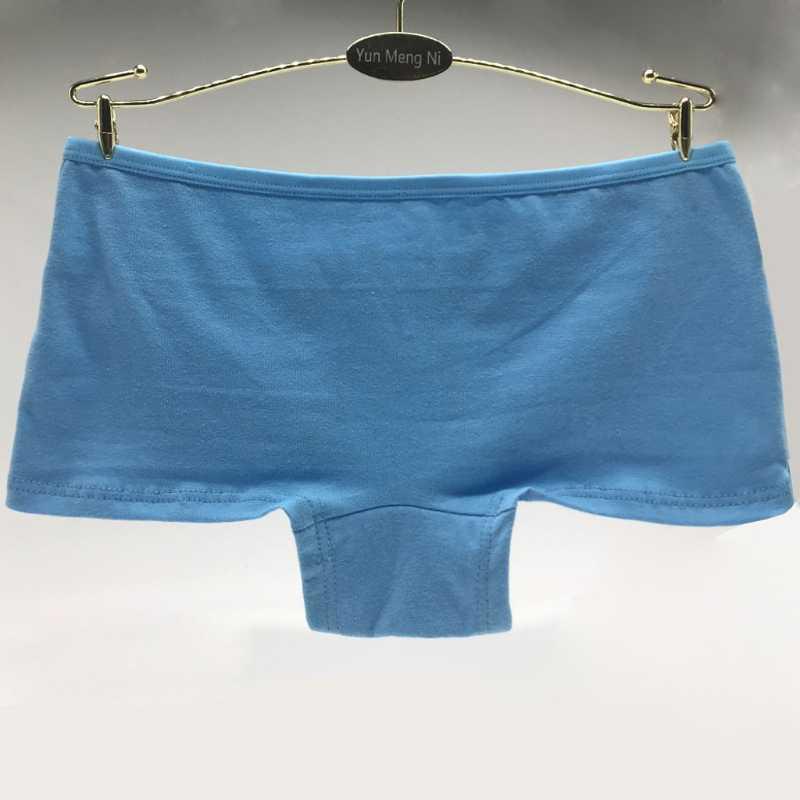 ملابس داخلية نسائية بخصر منخفض مطبوع عليها مزيج من القطن ملابس داخلية وسراويل داخلية قصيرة