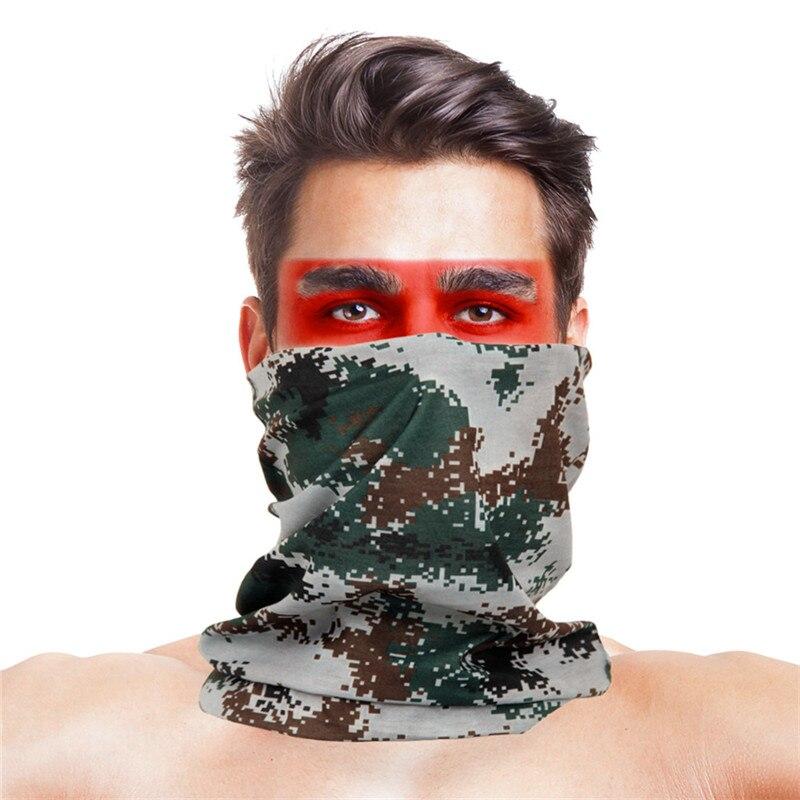 Армейская цифровая рыболовная Бандана с изображением масок для лица из полиэстера ветрозащитная Зимняя Маска для головы и шеи для лица одежда для рыбалки - Цвет: 012