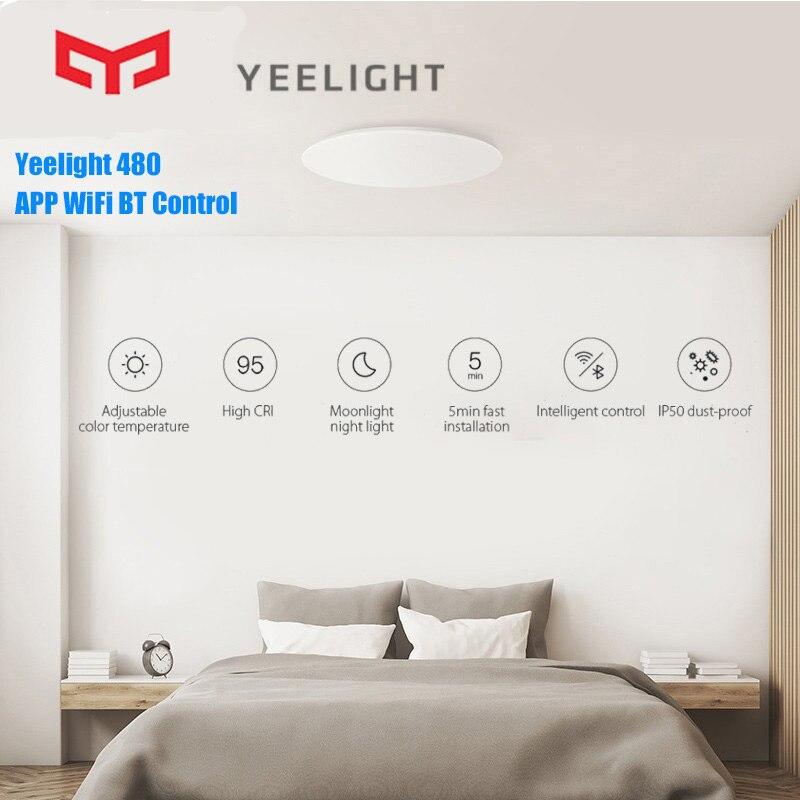 Оригинальный Yee светильник 480 потолочный светильник JIAOYUE светодиодный светильник Smart APP WiFi Bluetooth светодиодный потолочный светильник 200 240 в пульт дистанционного управления для комнаты