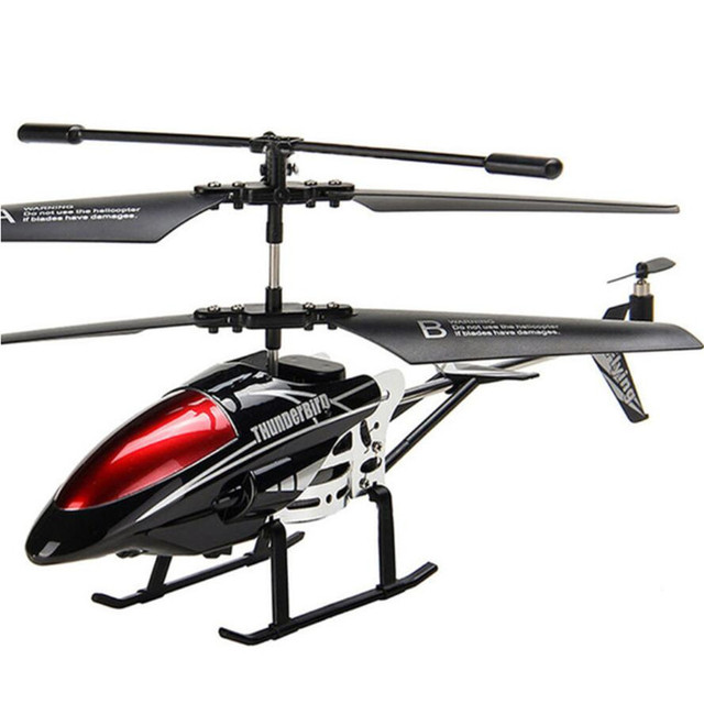 RC Helicopter 3.5 CH Radio Control Helicopter with LED Light Quadcopter Children Christmas Gift Shatterproof Flying Toys 3