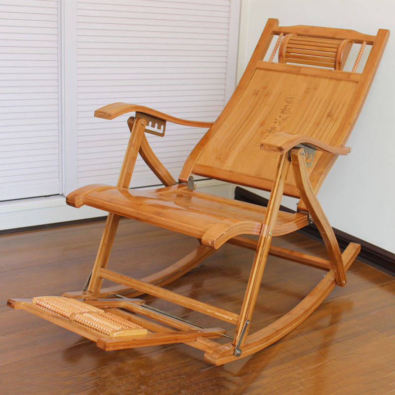 Leisure Chair Manufacturers Direct Selling Leisure Chair Folding Backrest Balcony Folding Chair Hard Rocking Chair