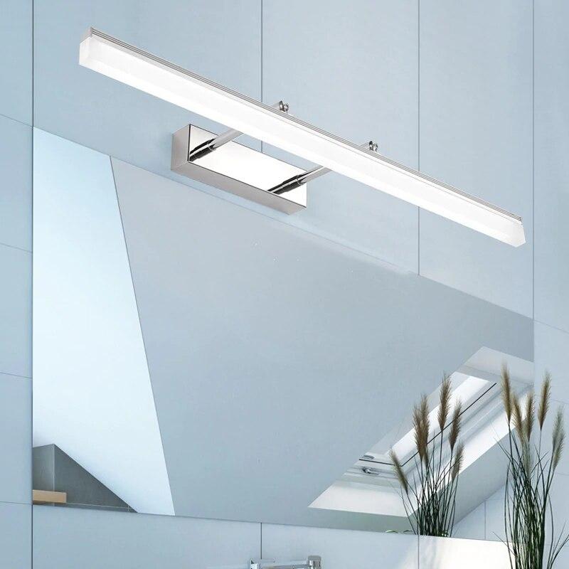 40cm 50cm Indoor LED Wall Lamp Makeup Mirror Light Aluminum Acrylic Adjustable Angle Dressing Table Bathroom Bedside Wall Lights