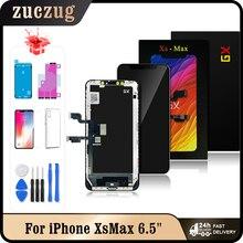 GX Xs Max OLED آيفون Xs ماكس شاشة LCD تعمل باللمس محول الأرقام الجمعية اختبار لا الميت بكسل استبدال شاشات الكريستال السائل