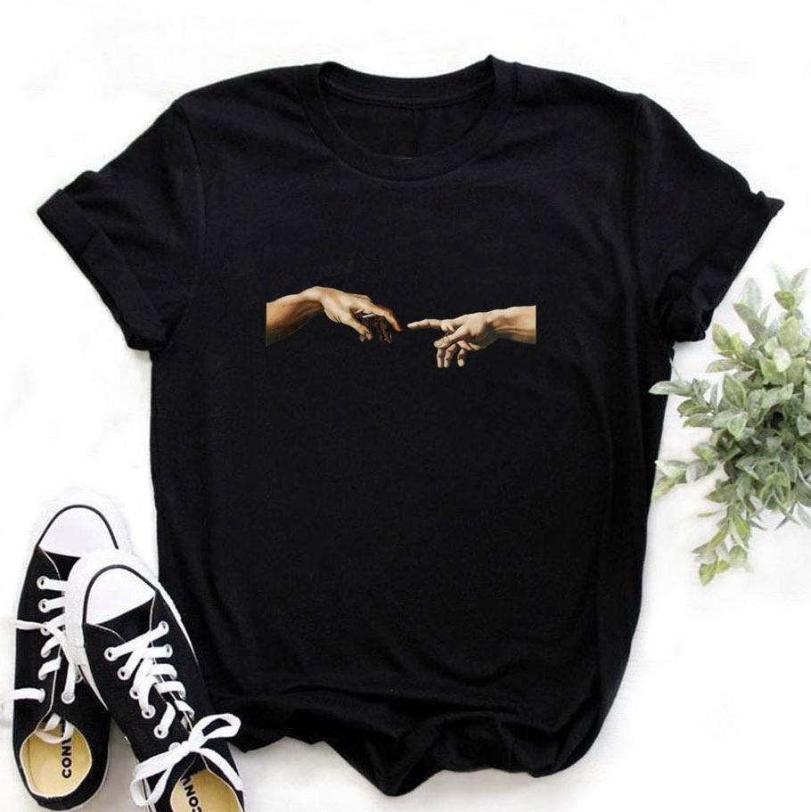 2020 новая женская мода Harajuku 90s комплект из черной кофты с длинным рукавом для девочек, топы с короткими рукавами, хипстерские футболки, одежда для девочек, Футболки    АлиЭкспресс