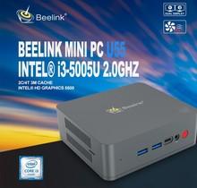 цена на Beelink U55 Mini PC Intel Core I3-5005U Win 10 2.4G+5.8G Dual Wifi 8GB DDR3L 256GB 512GB SSD DP+HDMI Dual Screen Mini Computer