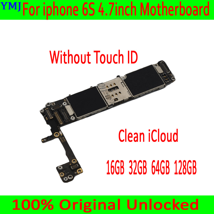 <font><b>Unlocked</b></font> mainboard for <font><b>iphone</b></font> <font><b>6S</b></font> Motherboard 16GB / 64GB / 128GB version without touch ID <font><b>logic</b></font> <font><b>board</b></font> for <font><b>iphone</b></font> <font><b>6S</b></font> MB Plate image