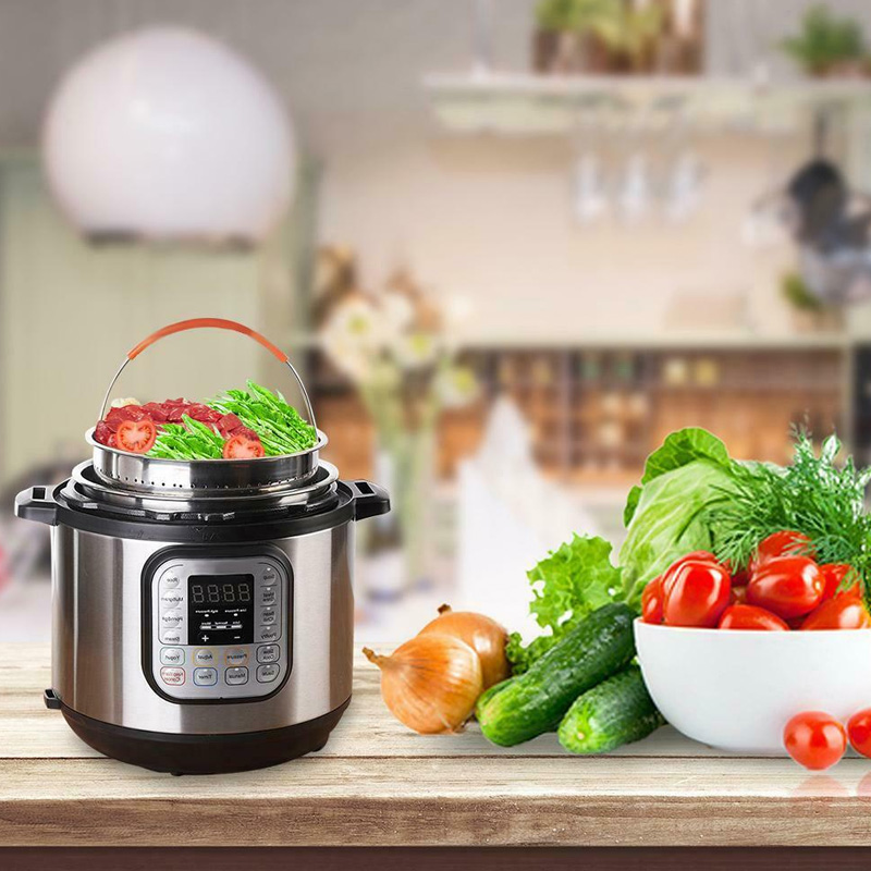 High Quality Practical Stainless Steel Steamer Basket Vegetable Drain Basket Pressure Cooker Home Kitchen Tool UEJ