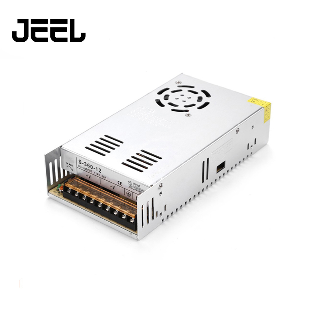 AC 100-240V Input  DC 12V30A 360W Switching Power Supply Driver For CNC Engraving Machine