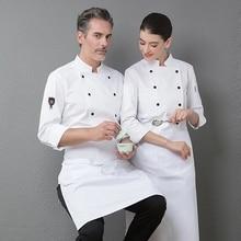 Jacket Catering Overalls Chef-Uniform Workwear Restaurant-Top Kitchen Long-Sleeve Cooking