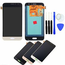Original AMOLED J120f lcd For SAMSUNG GALAXY J1 2016 LCD J120 J120f J120M J120H LCD Display Touch Screen Digitizer display 10pcs lot for samsung galaxy j1 2016 j120 j120f j120ds j120m j120h sm j120f front outer glass lens touch screen panel replacemen