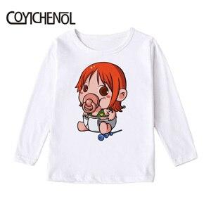 Image 5 - Uma peça crianças tshirt 2019 primavera e outono 2 12 anos animação manga longa crianças impresso dos desenhos animados topos coyichenol