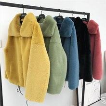 Di marca di modo fluffy grande collare della Pelliccia Del Faux cappotto femminile Più Spessa caldo della Pelliccia di Fox Gilet con cerniera cuciture cappotto con coulisse