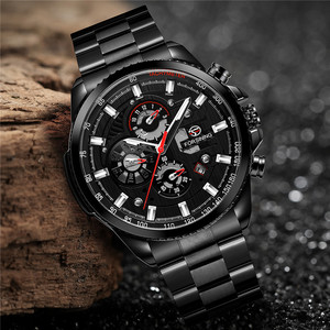 Image 2 - FORSINING Automatic Mechanical Men Wristwatch Military Sport Male Clock Top Brand Luxury Full Steel Waterproof Man Watch 6909