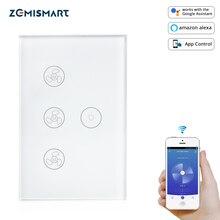 Zemismart חכם WiFi מתג מאוורר אור עבודה עם Alexa Google בית חכם חיים App שליטה קולית