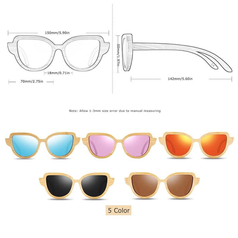 BC8104 bamboo sunglasses size