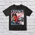 Черная Винтажная футболка унисекс Chance the Rapper 90