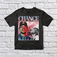 Chance o rapper 90 vintage unisex camiseta preta