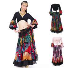 Gypsy Long Dress Belly Dance Maxi Skirt Set Bollywood Dancing Costumes(China)
