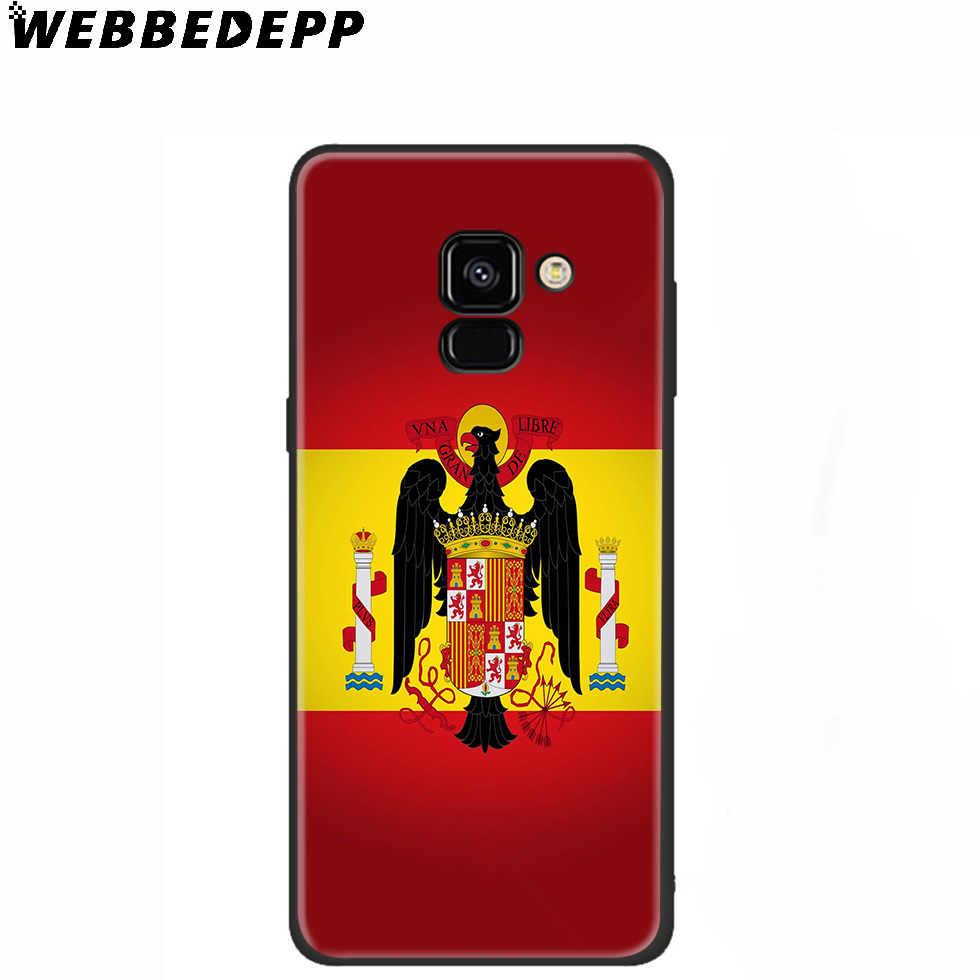 Ispanya bayrağı İspanyolca yumuşak samsung kılıfı Galaxy A70s A50s A40s A30s A20s A20E A10s not 8 9 10 artı