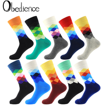 2019 Fashion Spring autumn winter Women beautiful solid Color Sock suit For Rhombus wild Cute cotton socks Good Quality