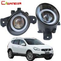 Cawanerl For Nissan Dualis (J10, JJ10) 2007-2015 Car H11 3000LM LED Fog Light Angel Eye Daytime Running Light DRL 12V 2 Pieces