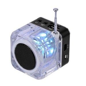 Image 3 - 新ポータブルミニスピーカーデジタル音楽MP3/4プレーヤーマイクロsd/tf usbディスクスピーカーfmラジオlcdディスプレイ 20