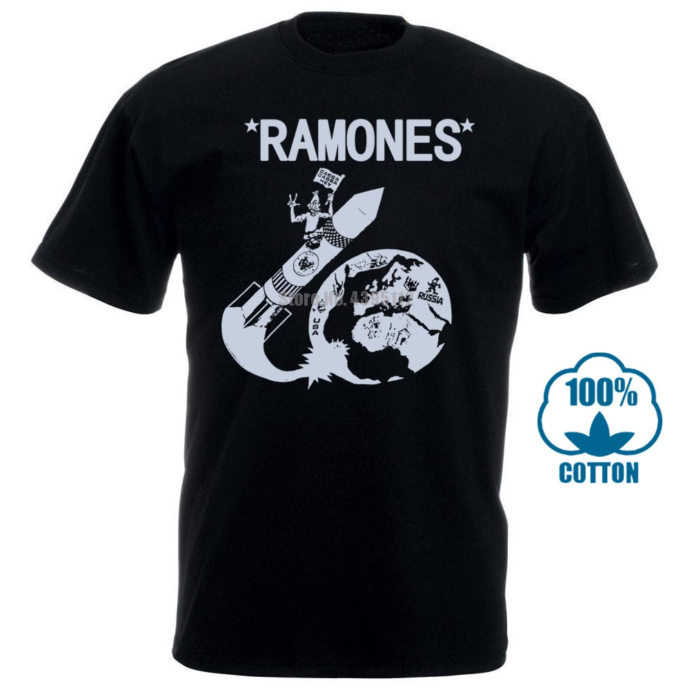 Vintage 80 s ramones foguete para a rússia punk rock tour concerto promo t camisa coisas estranhas design t camisa 2018 novo