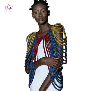 Image 2 - 2020 アフリカアンカラ手作りストラップネックレスファッションアクセサリージュエリーギフトafircan生地プリントネックレスショールSP002