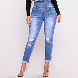 Image 4 - FLEUR WOOD Jeans Bib Female Slimming Denim Jeans For Women Plus Size Stretch Jeans Female Skinny Jeans pantalones vaqueros mujer