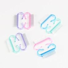 Дизайн ногтей пластиковая щетка для чистки пальцев Уход за ногтями пылечистка ручка скраб щетка Инструмент Педикюр
