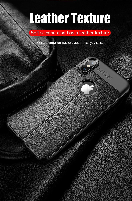 Роскошный кожаный PU силиконовый мягкий чехол для iphone 7 8 6 6s PLus X полный Чехол для iphone X Xr Xs Max противоударный бампер чехол