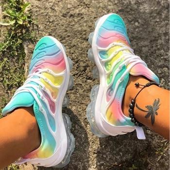 2020 женские кроссовки, летняя спортивная обувь для улицы, разноцветная удобная повседневная обувь на шнуровке размера плюс, Zapatos De Mujer