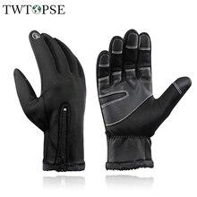 TWTOPSE водонепроницаемые мужские велосипедные перчатки женские термальные зимние спортивные велосипедные перчатки MTB MX перчатки аксессуары