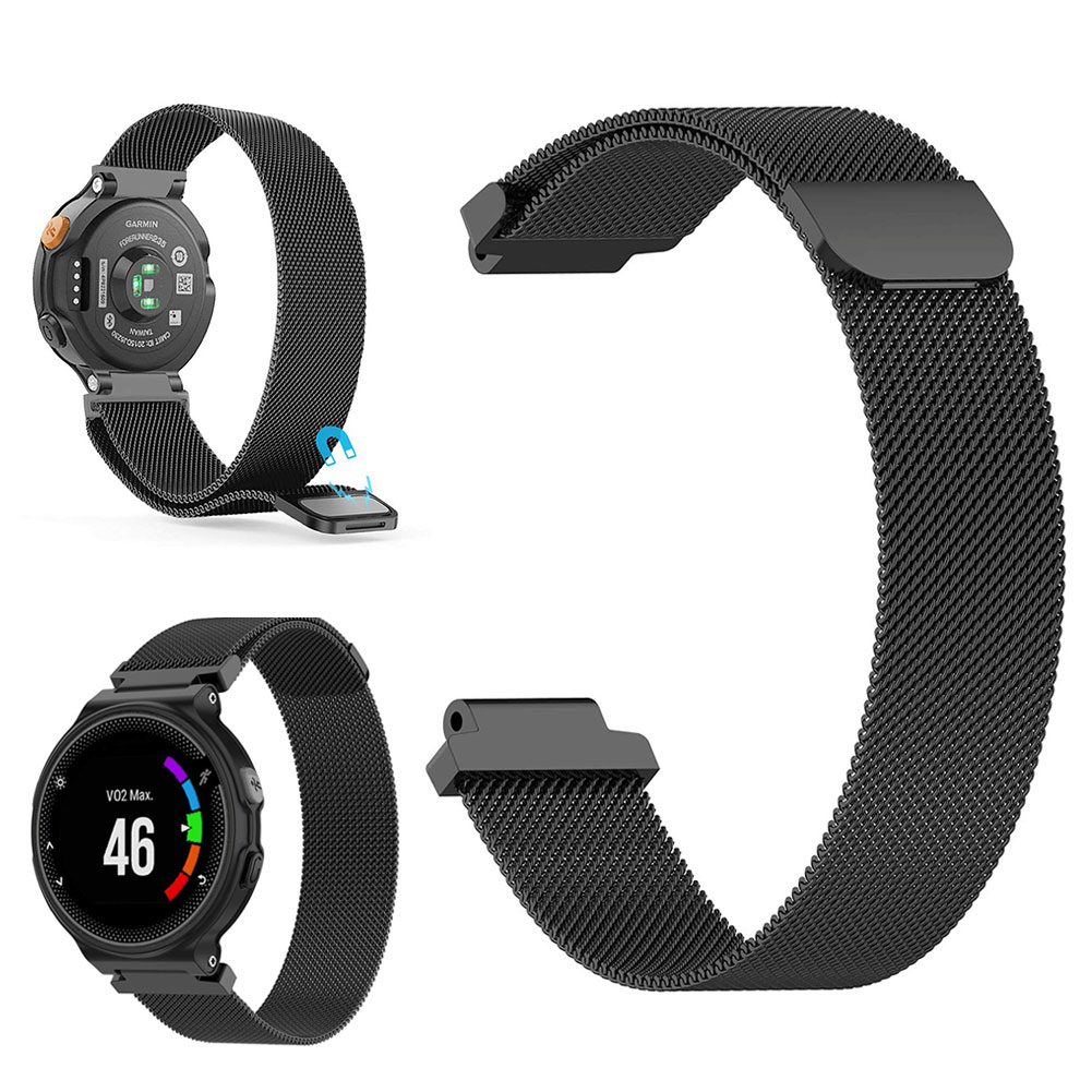 <font><b>Magnetic</b></font> Fashion Adjustable Plated Smartwatch Band Soft Accessories Flexible Braided Stainless Steel For <font><b>Garmin</b></font> <font><b>Forerunner</b></font> <font><b>235</b></font> image