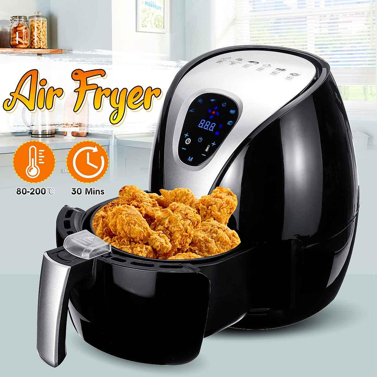 1500W Air Fryer Multi-Functional Digital Health Cooker Timer Oven Low Fat Oil Free 6 Preset Food Grilling Roasting Deep Fryer