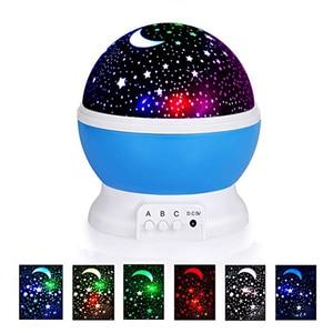 Image 1 - 3D Star Night Light โปรเจคเตอร์โคมไฟ Letras LED เด็ก Starry Night Baby สำหรับเด็ก lamparas Moon nightlight infantil
